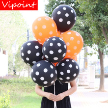 VIPOINT PARTY 100pcs 12inch balck orange latex balloons wedding event christmas halloween festival birthday party HY-374