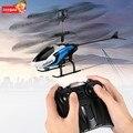 Novo Azul 2CH IR RC Controle Remoto Mini Helicóptero Zangão S126 For Kids Presente Das Crianças Embutido Luz Colorida LEVOU 2 canais