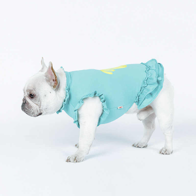 Pet Dog Dress Cactus Ricamo Dress Pet per Cani di Piccola Taglia Media Costume Francese Bulldog Pet Gonna Cane di Piccola Taglia Abiti Disfraz perro