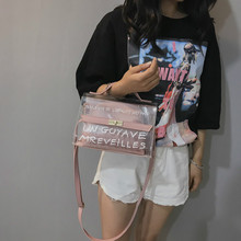 Clear Transparent PVC Fashion Shoulder Bag Clear Jelly Clutch Purse Transparent Handbag Crossbody Bags Plastic Beach