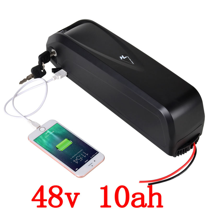 US EU Free  48v 10A 750W Lithium battery 48V 10AH Electric Bike hailong battery with 20A BMS + 54.6V 2A charger free shipping customs duty hailong battery 48v 10ah lithium ion battery pack 48 volts battery for electric bike with charger
