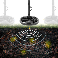 Professional Sensitivity Underground Metal Detector Treasure Hunter Gold Digger Finder LCD Display Headphone Ultra Sensitivity