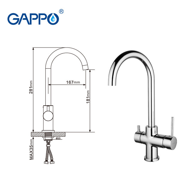 Online Shop GAPPO waterfilter taps kitchen faucet mixer taps water ...