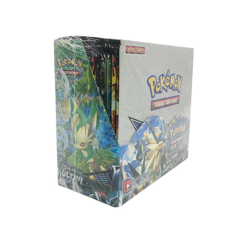 324PCS Pokemon Versão GX EX Cartão de MEGA Cobertura 3D SUN & MOON ULTRA Cartão Collectible Presente para Crianças Brinquedo PRISMA