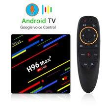 цены на H96 Max Plus Android 8.1 TV Box Voice Remote  5G Dual WiFi RK3328 4GB 64GB 4K Ultra HD IPTV Subscription 1 Year 3000 Channels  в интернет-магазинах