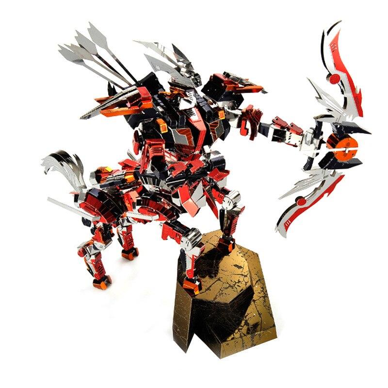 Креативный 3D DIY металлический кентаур рыцарь лучник модель сборки игрушки красочные из нержавеющей стали Стрелец модель головоломки игруш...