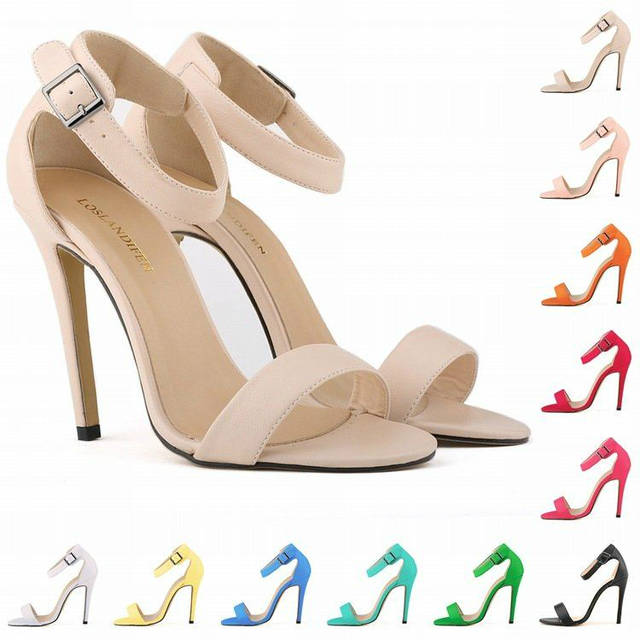 710a240b968 placeholder Free shipping Black Women Pumps Sexy Girls matte finish High  Heels Shoes Open Toe Ankle Strap