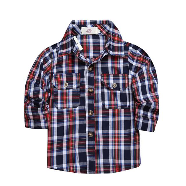2018 sets of clothes for spring suit boy's long sleeve plaid shirt + jeans + Vehicle Printing 3 pcs set  BCS203
