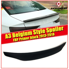 For Audi A3 A3Q High quality Rear Spoiler Belgium Style Coupe FRP Unpainted Trunk Wing Lips car styling 13-in