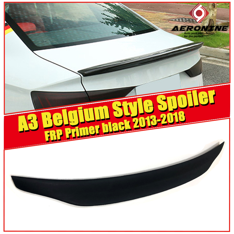 For Audi A3 A3Q High quality Rear Spoiler Belgium Style Coupe FRP Unpainted Rear Spoiler Rear Trunk Wing Lips car styling 13 in
