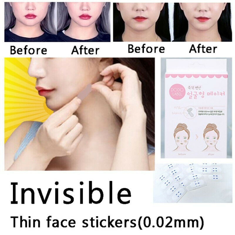 Hot 40Pcs/Box Secret Lift Tape Effective Face Sticker Thin Invisible Chin Patch wyt77