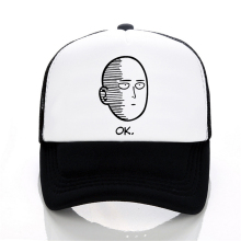 ANIME One Punch Man Printed baseball cap men Women cool Summer Mesh Trucker ONE PUNCH MAN adjustable snapback hats
