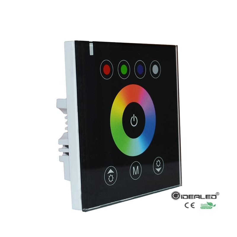 DIY domácí použití dotykový panel RGB LED ovladač s nástěnnou pro stmívač vedl RGB pásová světla vstup DC12-24V
