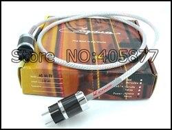 Przewód zasilający 13 solidny wytłaczany srebrny kabel zasilający 16 AWG z włóknem węglowym rodowana wtyczka zasilania ue 2M|silver power cable|silver cablesilver plated cable -