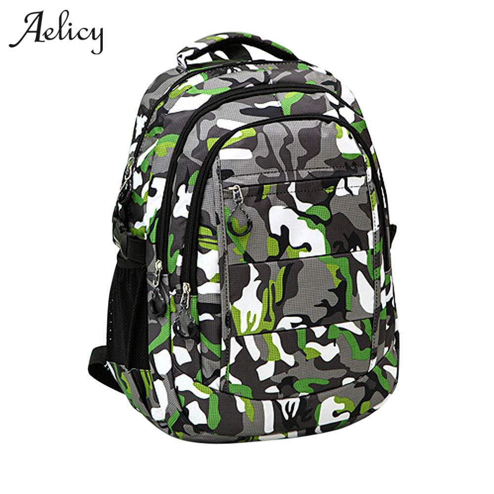 Backpack Male Interior Slot Pocket Canvas Backpack Schoolbag For Boys Girls Rucksack Laptop Schoolbag