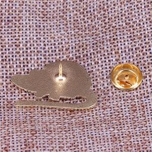 Image 2 - Preto mouse esmalte pino com capuz broche de rato bonito animal de estimação crachá engraçado animal jóias crianças presente unisex camisa jaqueta acessório