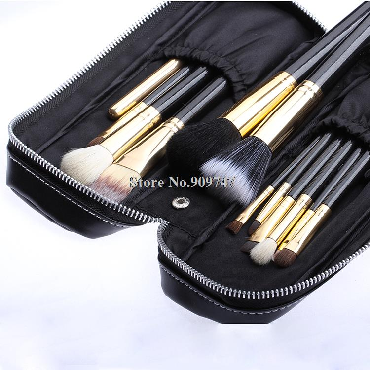 Makeup Brush tools 12 PCs Brush Cosmetic Make Up brush Set With 2 Case pink Bag Kit, Free shipping