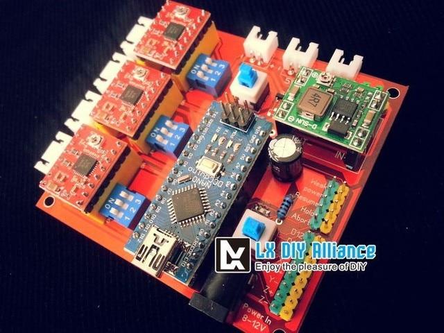 Diy Mini Laser Engraving Machine 3 Axis Cnc Grbl Arduino Dashboard Control Board