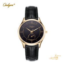 Men Women Watches Brand Luxury Fashion Ture Leather Watch Ultra Slim Quartz-Watch Business Male Clock Montre Homme Lovers' Watch