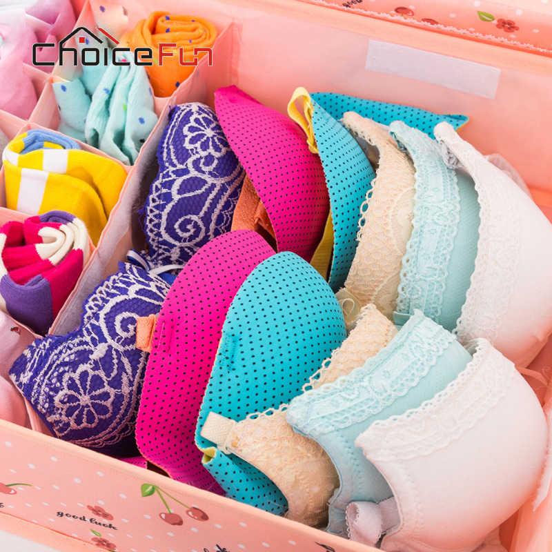 Выбор FUN бюстгальтер ящик для хранения ящика делитель организации шкаф носок контейнеры ткань нижнего белья Организатор шкаф для одежды