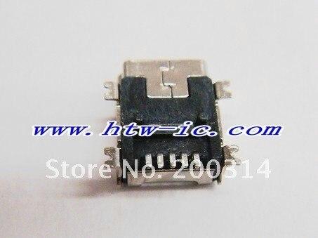 200pcs, Free Shipping  5-Pin Female Mini B USB SMD 5 PIN Socket Connector,ICs& Free Shipping