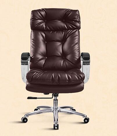 Купить с кэшбэком The boss has a real leather chair. Can lie in computer chair. Household large class chair. Latex sofa chair..037