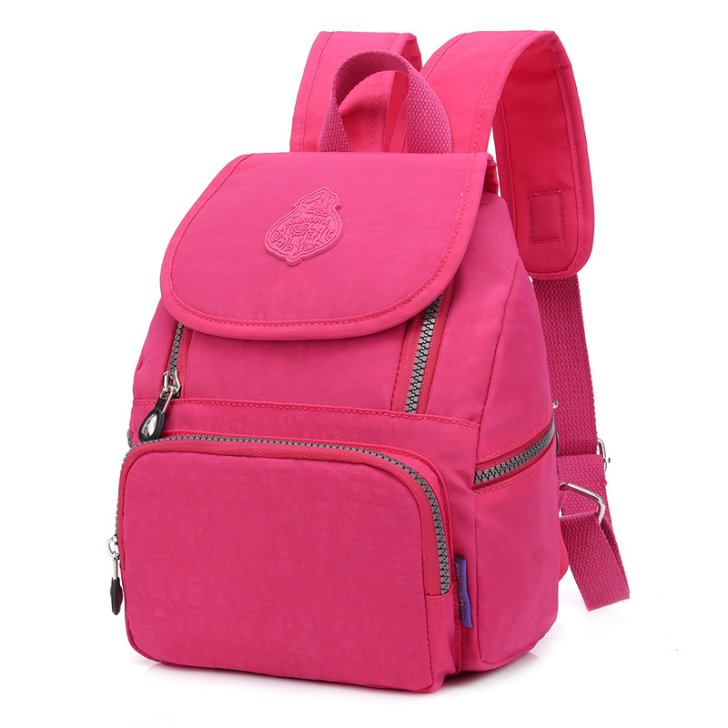 4217df6d5bfa Women Preppy School Bags For Teenagers Female Nylon Travel Shoulder Bags  Girls Bowknot Backpack Mochila Casual Floral Dailybacks-in Backpacks from  Luggage ...
