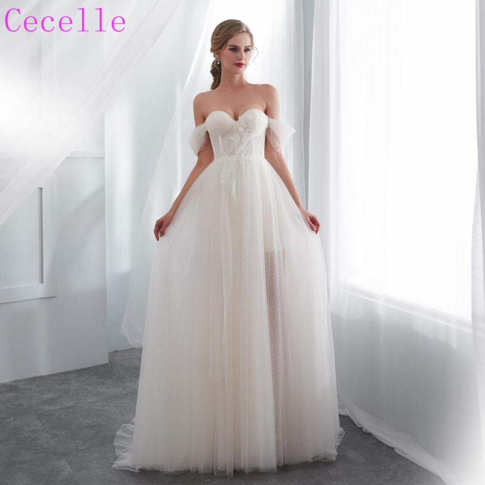 Detail Feedback Questions about 2019 Latest Simple off the Shoulder A line  Informal Wedding Dress Corset Back Boho Bridal Gown on Aliexpress.com  cd40332f3681