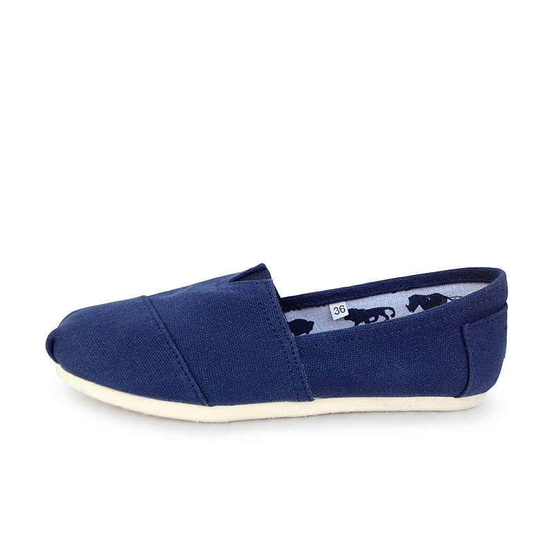 Tom Thomas Canvas Shoes, Pure Color Flat Bottom, Lovers Shoes, Lazy  And Women Shoes, Foot Shoes,