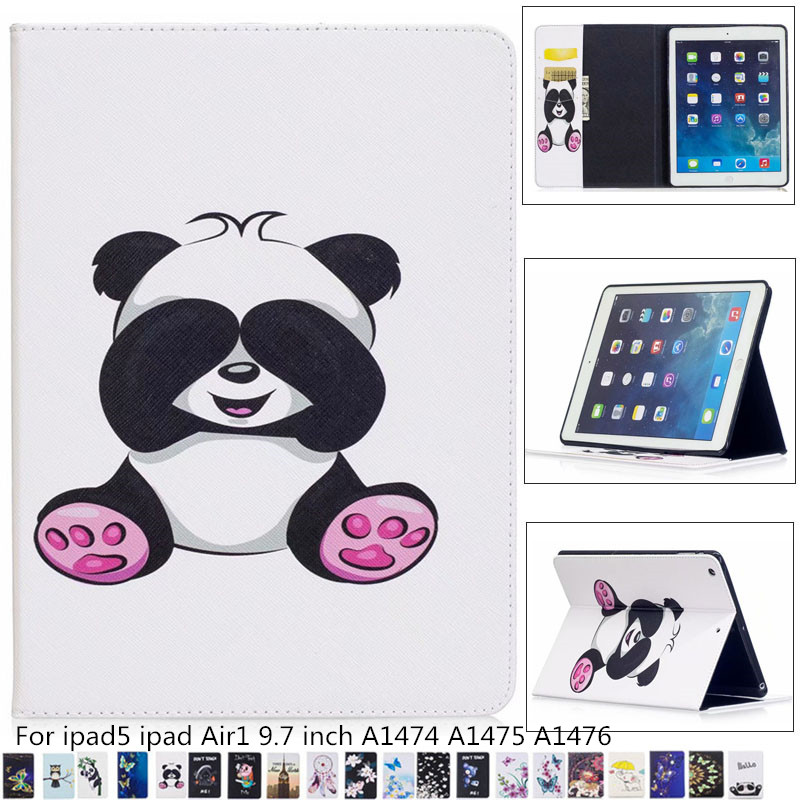 Slim Child Cartoon tablet pu leather stand flip case Cover for Ipad Air 9.7 Inch 2017 for IPad5 I Pad 5 A1474 A1475 <font><b>A1476</b></font> + pen image