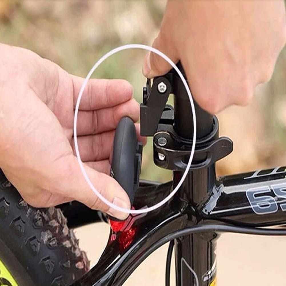 Solar Powered LED trasera intermitente luz para bicicleta lámpara seguridad TR rápido flash/flash lento/en /Off impermeable