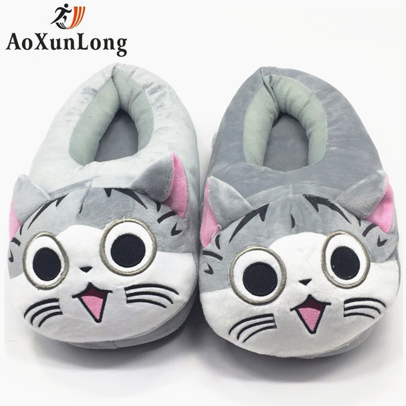 Cute Totoro Slippers Women Winter Warm Home Slippers Woman Big House Gray Black Unicorn Slippers Unisex Indoor Women Shoes 35-42 2017 totoro plush slippers with leaf pantoufle femme women shoes woman house animal warm big animal woman funny adult slippers page 8