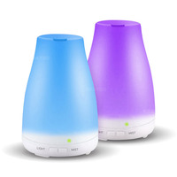 Ultrasonic Humidifier Aromatherapy Oil Diffuser Cool Mist With Color LED Lights Essential Oil Diffuser Waterless Auto