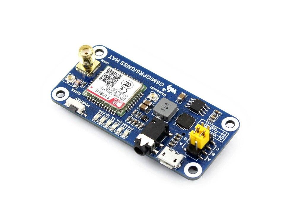 Faible puissance SIM868 GSM GPRS GNSS Bluetooth 3.0 chapeau pour framboise Pi 2B/3B/zéro/zéro W soutien SMS appel téléphonique CP2102 UART débogage - 4
