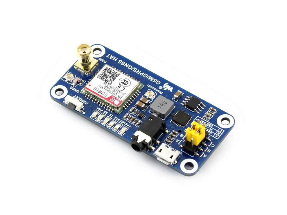 US $34 7 11% OFF|Low Power SIM868 GSM GPRS GNSS Bluetooth 3 0 HAT for  Raspberry Pi 2B/3B/Zero/Zero W Support SMS Phone Call CP2102 UART  Debugging-in