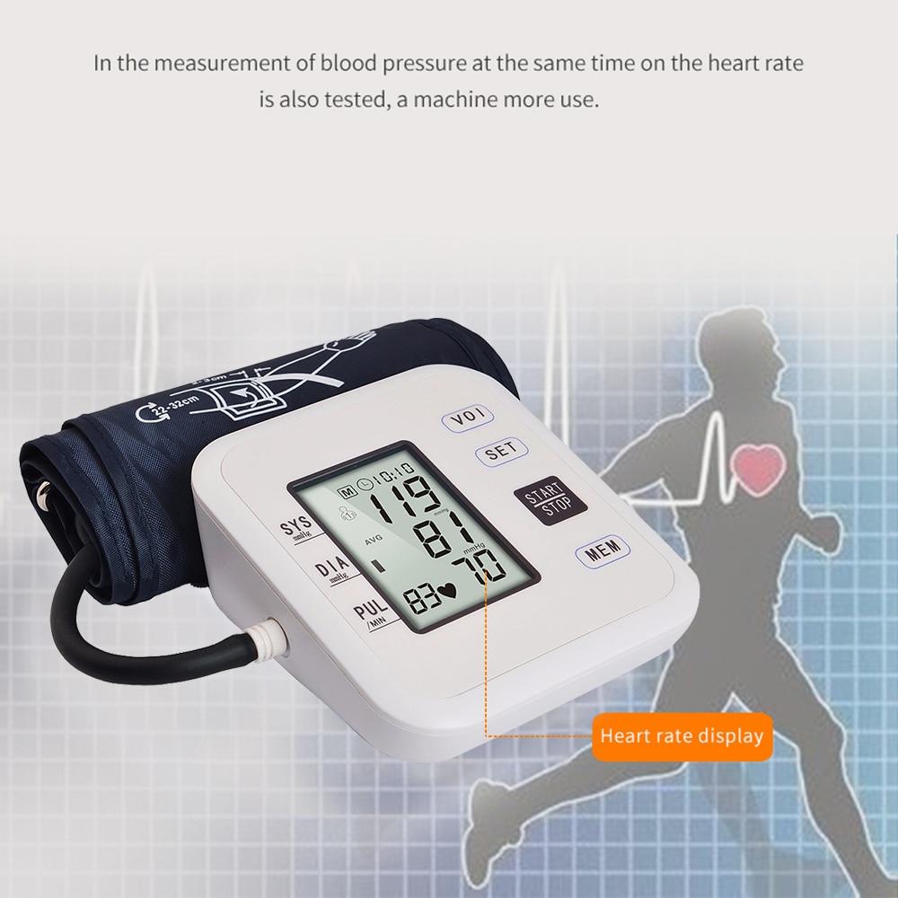 Automatische Digitale Oberen Arm Blutdruck Monitor Herzschlag Rate Pulse Meter Manschette Tonometer Blutdruckmessgeräte pulsometer *