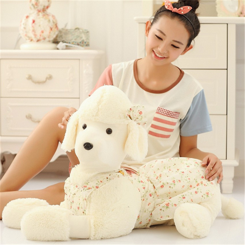 Fancytrader 1 pc New Hot 35'' / 90cm Lovely Stuffed Giant Plush Animal Poodle Toy, 5 Colors Available, Free Shipping FT50841 fancytrader 2015 new 20 50cm lovely stuffed soft plush giant cute animal eagle toy great gift free shipping ft50750