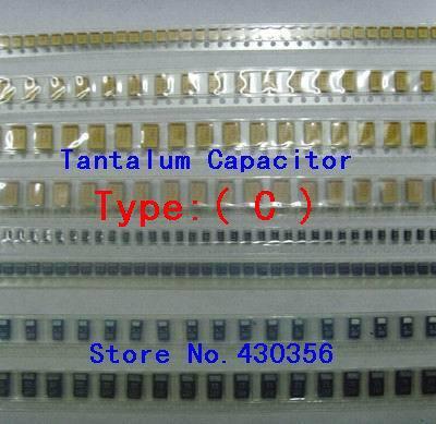 10PCS  Tantalum Capacitor  6032  Type:C      107  100UF  10V