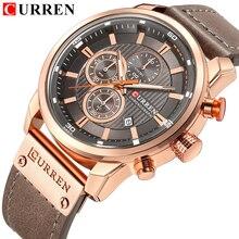 CURREN Luxury Casualนาฬิกาผู้ชายนาฬิกาทหารกีฬานาฬิกาข้อมือชายวันที่นาฬิกาควอตซ์Chronograph Horloges Mannens Saat Relojes