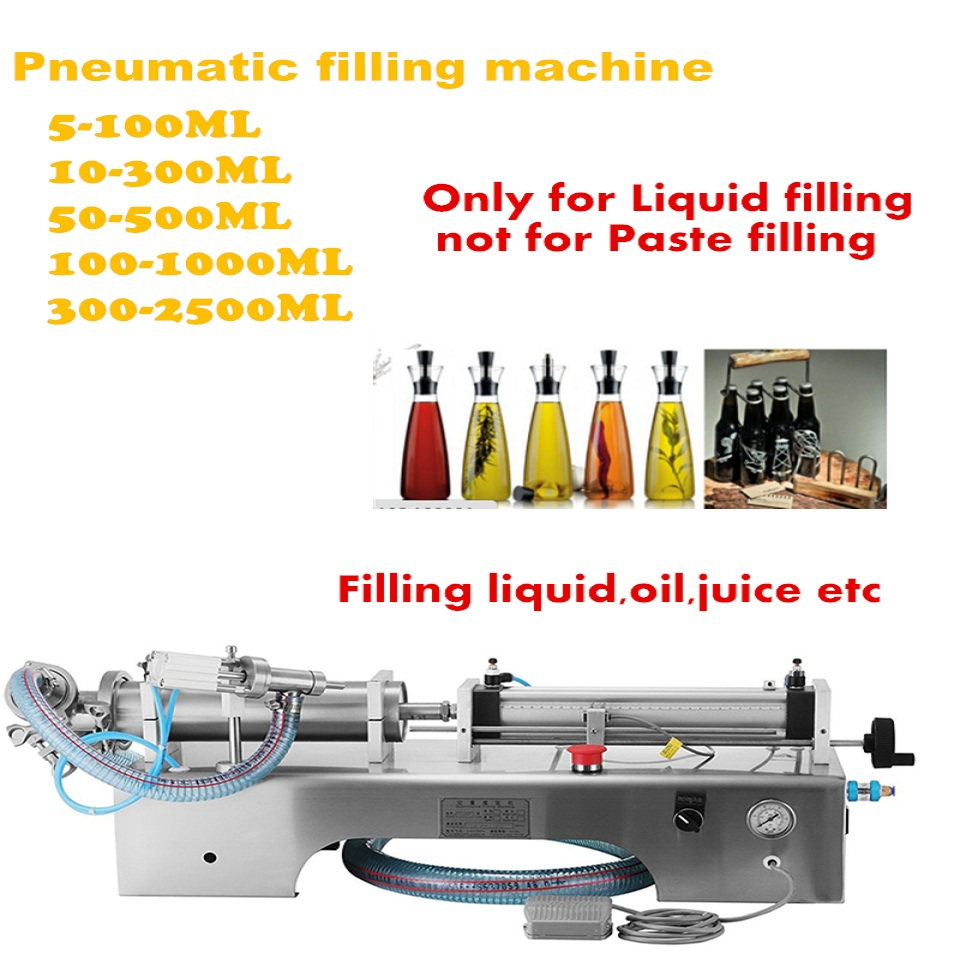 Fully pneumatic filler liquid 10-300ml or paste filling machine, pneumatic,semi auto filler,single head liquid filler economic and practical manual cream paste filling machine manual liquid filling machine 5 50ml manual liquid filler factory