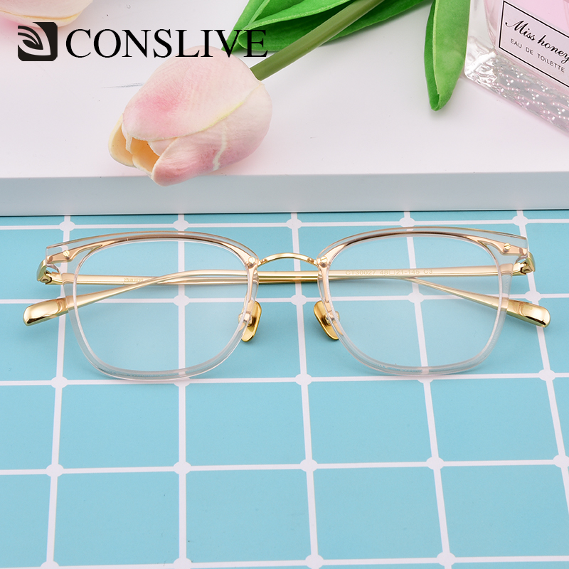 Multifocal Prescription Glasses Women Transparent Progressive Spectacles Myopic Eyeglasses Frame Optometry Eyewear CT30027