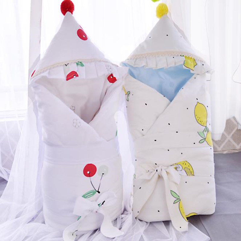 90*90cm Baby Quilt Cotton Fruit Pattern Washable Spring Autumn Newborn  Air Conditioning Quilt Baby Trolley Blanket Crib Mattres