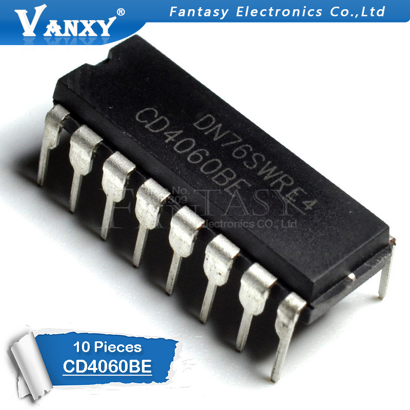 10PCS CD4060BE DIP16 CD4060 DIP 4060BE DIP-16 New And Original IC