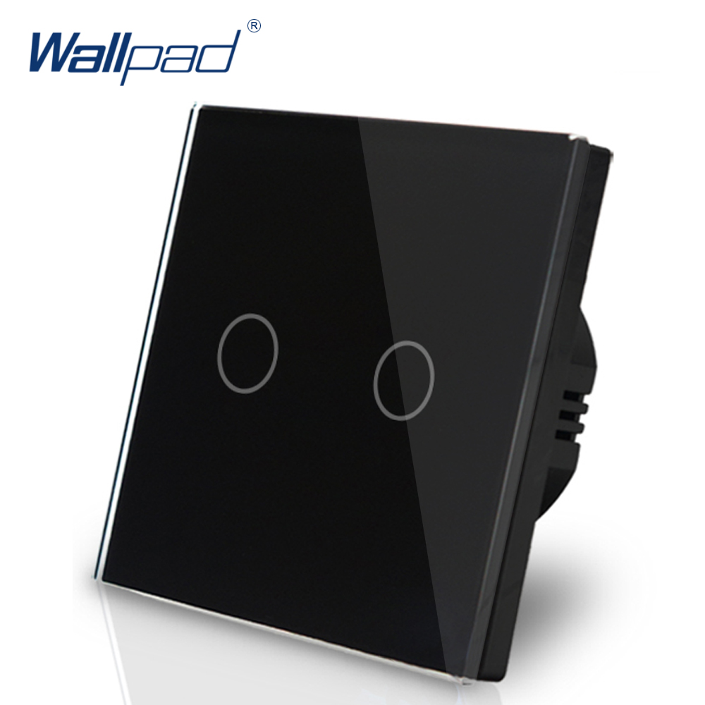 Hot Sales Wallpad Touch Switch Crystal Glass 110V-220V 2 Gangs 2 Way 3 Way Position EU UK Black Touch Switch On-Off-On SwitchHot Sales Wallpad Touch Switch Crystal Glass 110V-220V 2 Gangs 2 Way 3 Way Position EU UK Black Touch Switch On-Off-On Switch