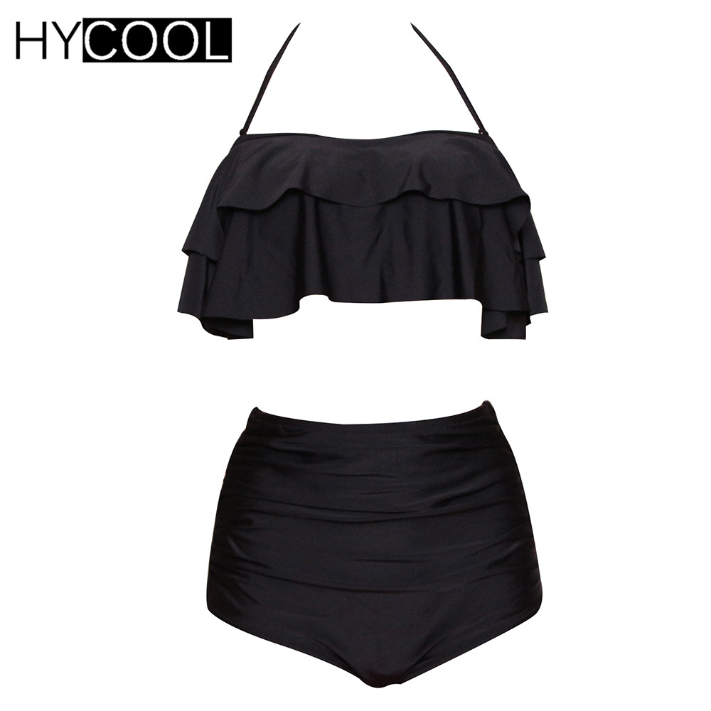 все цены на HYCOOL Women Swimwear Two-Piece Swimsuit Monokini Bikini Set Bodysuits Push Up Bathing Suit Women's Swimming Suit Plus Size XXXL