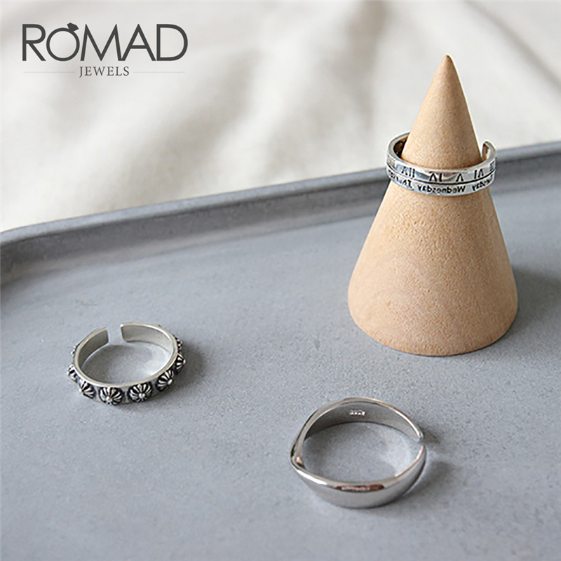 Romad 925 Sterling Silver Roman Number Ring Simple Ring Minimalist For Women Silver Trendy Jewelry Anillos Mujer Size 14 16 R4 Refreshing And Enriching The Saliva Rings