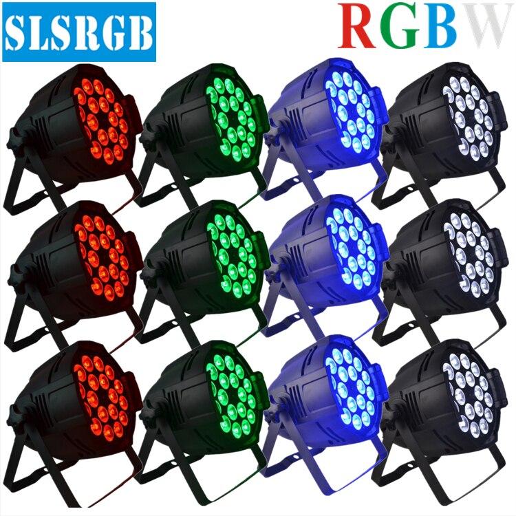 12pcs/lot led par 18x12/ led par rgbw/led par 64 rgbw stage light free shipping 16 lot dmx 18x10w rgbw led par can light for stage decoration