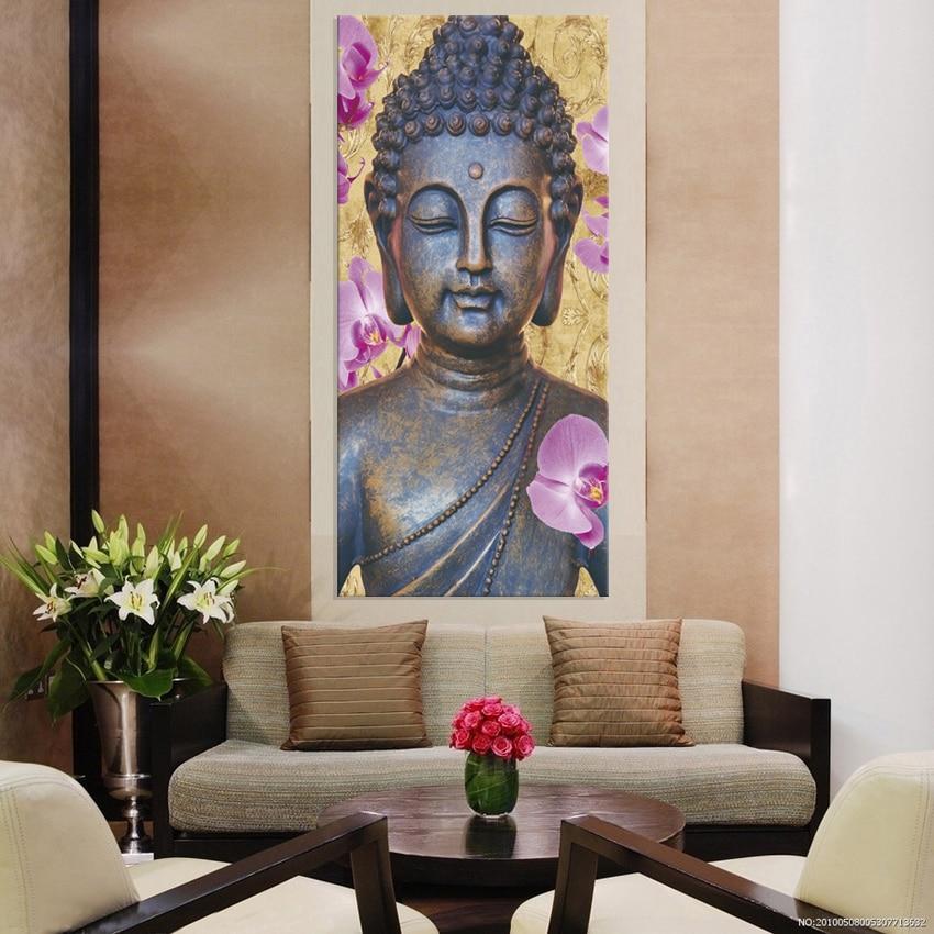 ツ)_/¯1 Panel Free shipping buddha art canvas Wall art buddha ...