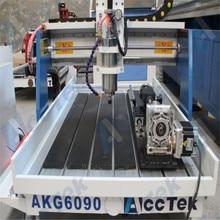 Горячая распродажа! 3D Мини деревообрабатывающий фрезерный станок с ЧПУ AKG6090 для металла