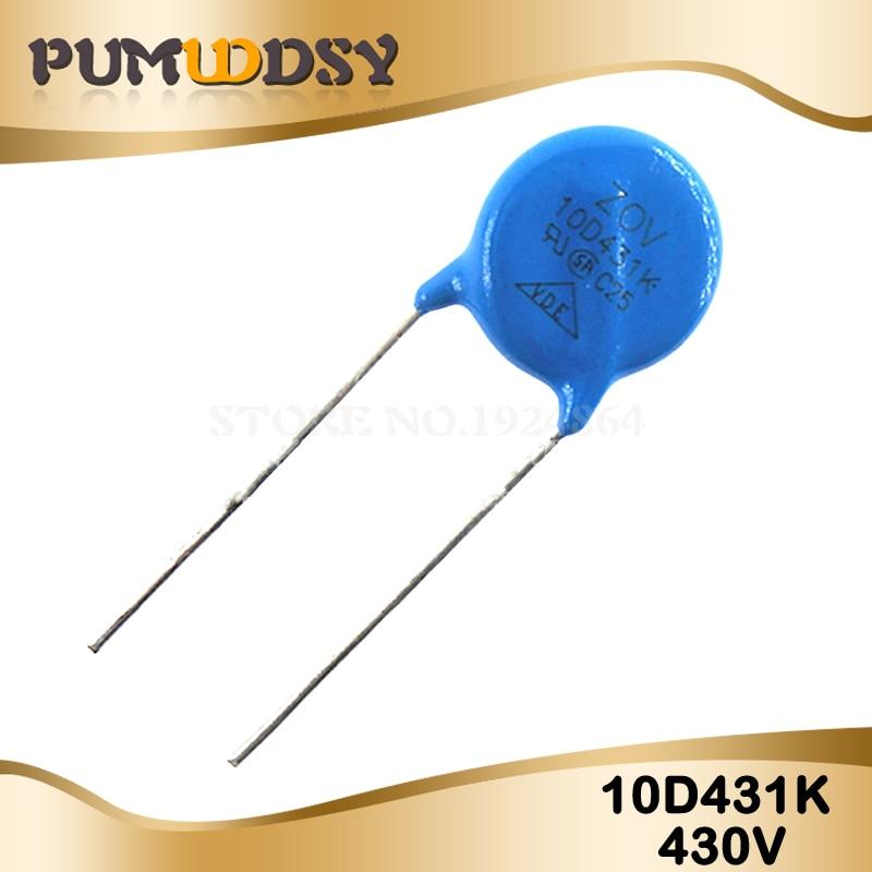 10pcs Varistor 10D431K 430V Piezoresistor 10D431